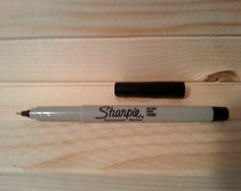 Sharpie - Sharpie Marker - Sharpie Pen - Ultra Fine - Black - Permanent Marker - Drawing - Packing and shipping - Supplies