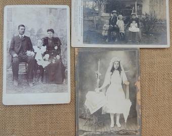 25 Antique Photographs   ~  25 Authentic Original Antique Photos  Circa 1907  ~  Cabinet Photos  ~ Antique Photos