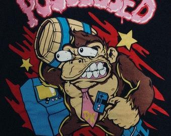 Multi-Color Possessed Monkey T-Shirt XL