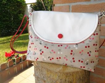 Shoulder bag cotton bag fabric bag faux leather handbag bag summer bag cotton bag summer handbag Eco leather bag