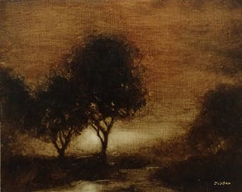 quiet trees - original oil painting