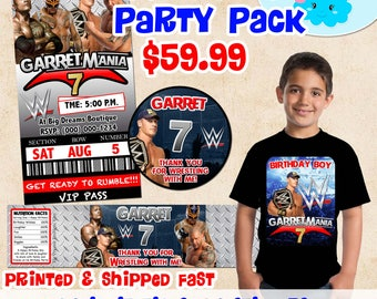 Wwe party Etsy