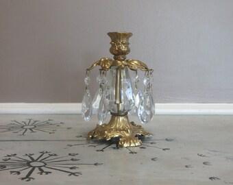 Gold Candle Holder Brass Candlestick Holder Hollywood Regency Decor Candelabra Chandelier Candlestick Ornate Candlestick Housewarming Gift