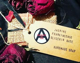 handmade jasmine & frankincense soap