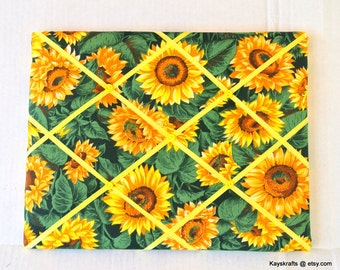 Yellow Sunflowers Memory Board French Memo Board, Organizational Memo Board, Autumn Fall Decor, Christmas Gift, Gift for Her