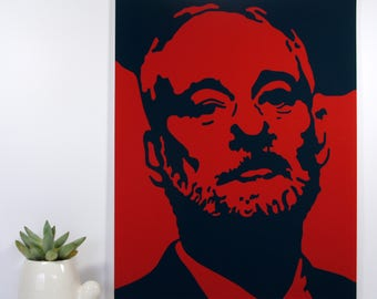 Bill Murray Portrait Pop Art Stencil Graffiti // Fine Art Wall Prints for Home Decor