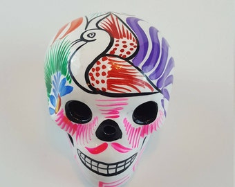 Day of the Dead Pottery Skull