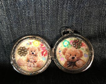 Teddybear Flower Locket!!
