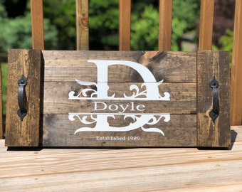 Rustic Serving Tray - Personalized
