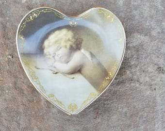 Sweet Slumber - A Collectable Heart-Shaped Plate
