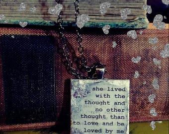 Edgar Allen Poe Annabelle Lee Pendant Necklace