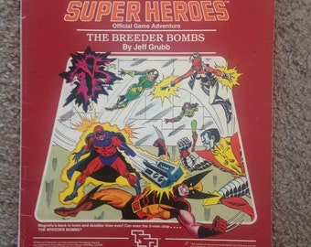 """Marvel Super Heroes """"The Breeder Bombs"""" Official Game Adventure RPG"""
