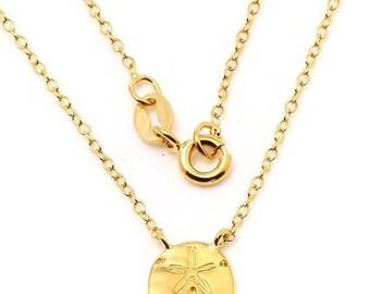 SAND Dollar Petite Pendant Sand Dollar Necklace, Sand Dollar Charm, Sand Dollar