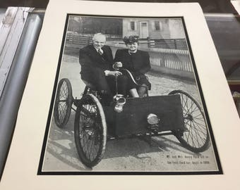 18/14 matted Henry ford photograph