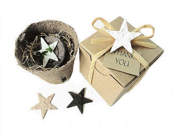 Plantable Party Favor Stars, Western Wedding Favor - Personalized by Nature Favors