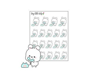 Planner Stickers Bunny Phone Call