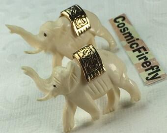 Men's Vintage Cufflinks Antique Elephant Cufflinks Made In USA SWANK Brand Cufflinks Steampunk Cufflinks