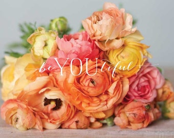 beYOUtiful ranunculus photography print | 8x10 | digital download | printable