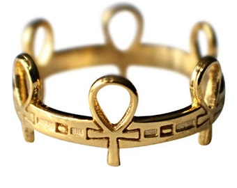 Ankh Ring, Custom  MADE-TO- ORDER