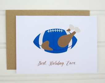 Funny Thanksgiving Card for Husband, Brother, Boyfriend, Uncle, BFF, Father, Friend, Dad, Son, Cousin, Sports Card, Food Card, Turkey Card