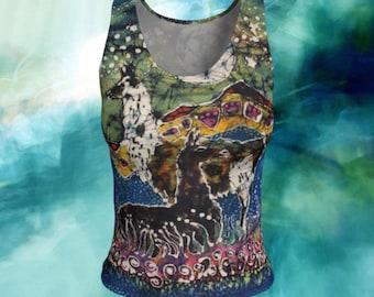 Llama Tank Top - Hills Alive with Llamas Batik