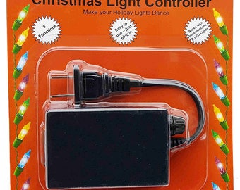 Flashing Blinking Fading Christmas Tree Lights Controller - 8 light functions.