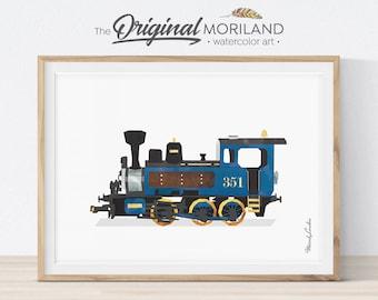 Steam Locomotive Print, Train Printable, Nursery Print, Transportation Decor, Train Decor, Steam Engine Wall Decor, Train Wall Art
