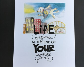 life begins... - print
