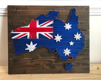 Australia with Union Jack Flag