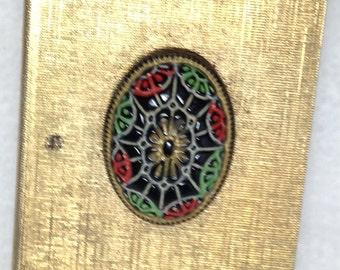Matchbox, Decorative, Original Matches, Goldtone, Vintage, Collectible