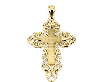 14k Gold Cross, Gold Cross, Religious, Religious Jewelry, Cross Jewelry, God, Gold Cross Pendant, Cross Pendant, Gold Pendant