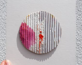 Corrugated Circle Painting II
