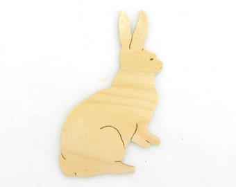 Rabbit Cut Out, Rabbit Magnet, Rabbit Pin, Bunny Cut Out, Bunny Magnet, Bunny Pin, Bunny Rabbit, Easter Gift, Stocking Stuffer, Woodwork