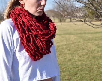 Chunky Arm Knit Scarf