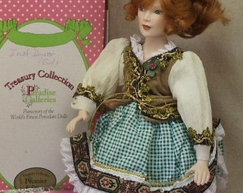 "Vintage Porcelain Doll,""Keegan"",Red Headed,Treasury Collection,Handcrafted,Handpainted,Paradise Galleries Collectible  COA, #VB7194"