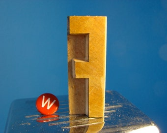 Wooden Printer's Type     The Letter F