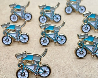 2 Cycling Pin Badges for 10 Pounds - Dog Riding A Bike Pin - Gift For Him - Cycling gift - Weimaraner Gift - Dog Lover - Gift For Her
