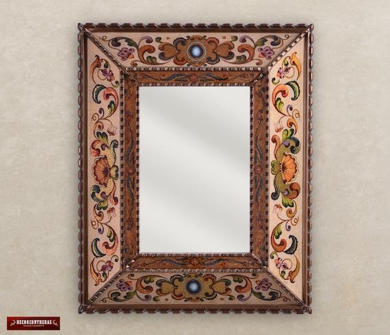 Decorative wall mirror peruvian arts crafs - Espejos coloniales ...