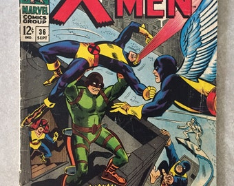 X-Men #36! First appearance of Mekano! Marvel 1967