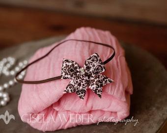 Newborn Wrap Set, Newborn Photo Prop, Pink Cheesecloth, Pink Baby Wrap Set, Newborn Wrap, Pink Baby Girl Photo Props, Baby Shower Gift