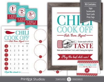 Chili Cook Off Kit --- Instant Download --- Printable --- C550-PK
