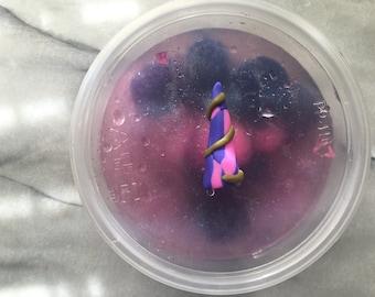 Unicorn Boba | 8oz unscented pom pom slime | Queenbunny . Slimes