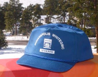 2b97d29ea8ef7 ... release date 80s vintage trucker hat volvo indianapolis gmc baseball  cap twill blue snapback rockstar 192fb ...