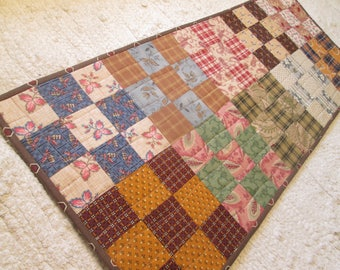 Quilted Rustic Primitive Country Americana Farmhouse Patchwork Table Runner