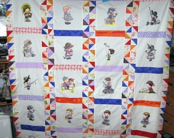 Wonder Children wonderful embroidered and quilted childrens quilt  FREE SHIPPING