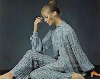 Crochet Pantsuit PDF Vintage Pattern 336 from WonkyZebra