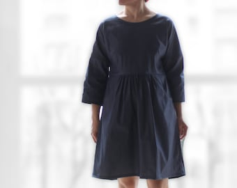 Woman dress loose fitting, woman clothing, woman dresses, spring dress, fall dress, woman casual dress, ethical clothing, jeans cotton dress