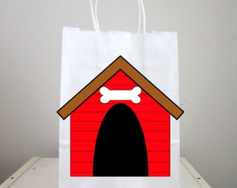 Puppy Goody Bags, Dog Goody Bags, Dog House Goody Bags, Puppy Favor Bags, Dog Favor Bags, Dog House Favor Bags