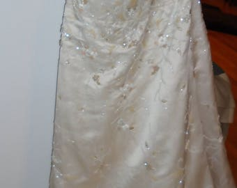 Exquisite beaded gown and veil/wrap