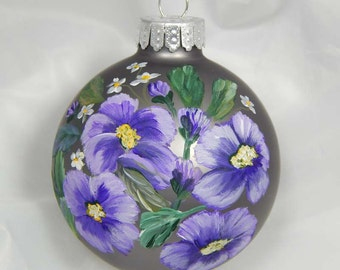 Hand Painted Ornament. Floral Ornament. Painted Ornament. Spring. Summer.